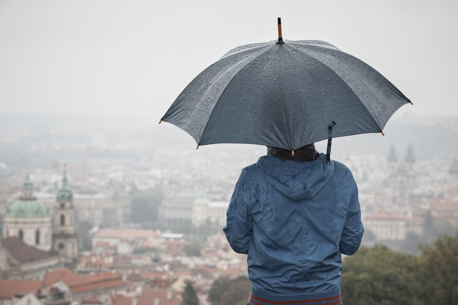 Regenachtige dag in Praag